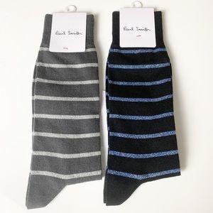 Paul Smith men's grey and black sock bundle